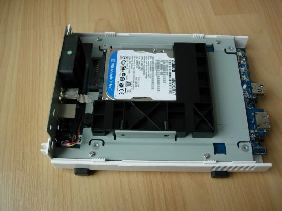DS109 après montage du disque dur.