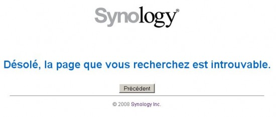 Page d'erreur 403 Synology